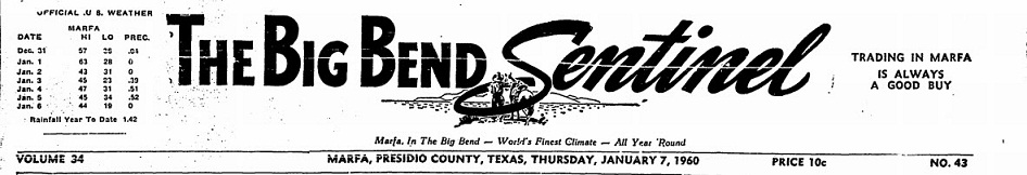 The Big Bend Sentinel 1960s