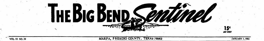 The Big Bend Sentinel 80's